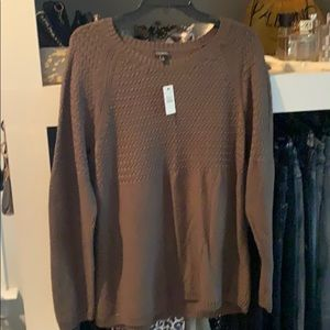 Talbots XL army green light knit sweater